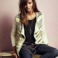 Moth Anthropologie Women's Open Front Cardigan Sweater Size XS Extra Small