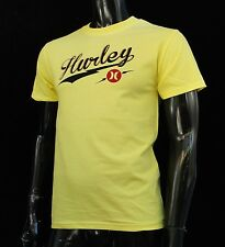 Hurley Surfing Classic Script Yellow Color Mens T-Shirt Size Small HRL-67