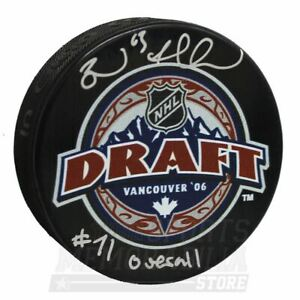 Brad Marchand Boston Bruins Signed Autographed 2006 NHL Draft Hockey Puck