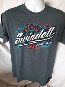Kevin Swindell 4x Chili Bowl Winner Medium T-shirt Bartlett, TN USAC #39 Sprint