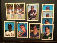 1990 (12) Bowman Baseball Cards w/ Frank Thomas Rookie #320-MINT LOT SET BREAK