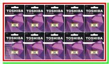 10 Batterie CR2 TOSHIBA Pile Litio EL1CR2 CR17355 2CR13252 RLCR2 Foto Camera 3v