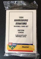 1994 ProCards Harrisburg Senators Minor League Complete Set Near Mint-Mint