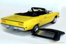 1:18 GMP 1970 Plymouth Road Runner Convertible Lemon Twist COURSE WHEELS RARE