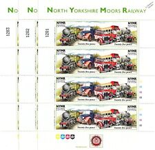 3 x 1996 Vintage Vehicles (MG Car / Bus) NYMR Railway Letter Train Stamp Sheets