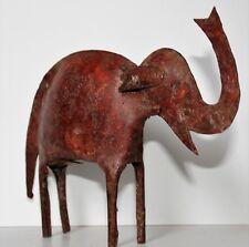 2 ELEPHANTS métal - 1 métal blanc et 1 métal patine rouge