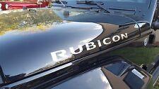 "NEW 2pcs(Pair) RUBICON 20"" Chrome Vinyl Sticker Decal JEEP WRANGLER Hood"