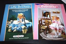 Goldilocks Crochet Pattern Book Little Bo Peep Doll Clothes Craft  - V VX