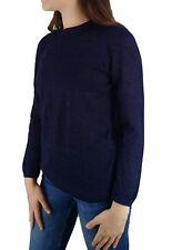 TINKUY PERU 100% Alpaca Wool Women's Long Sleeve Peruvian Blue Sweater Small S