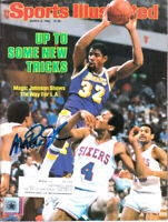 Magic Johnson autographed signed autograph Lakers 1984 Sports Illustrated (SSG)