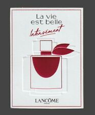 Advertising card + patch-life is beautiful lancome intensely of