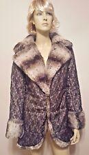 ADRIENNE LANDAU Faux Fur Black Lace Coat NEW! Rare! Sz XS