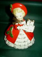 Vintage INARCO- 1963-  Christmas Lady holding presents Planter