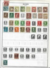 504 German Bavaria collection on old album pages and 1 stock sheet