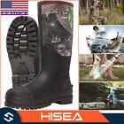 HISEA Men's Rain & Snow Boots Neoprene Rubber Insulated Muck Chore Working Boots