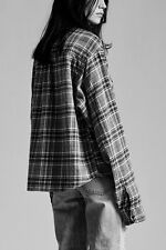 R13 X OVER JAPANESE PLAID SHIRT IN BLUE SMALL