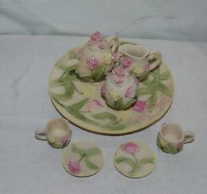 Vintage Resin Miniature Tea Set