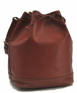 Authentic Louis Vuitton Epi Noe Brown Shoulder Bag LV C1343