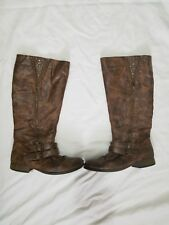 Womens Olsenboye brown tall riding boots Size 9