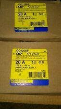 10 x SQUARE D QO120DF 1 Pole 20 Amp Dual Function GFCI AFCI CIRCUIT BREAKER  +