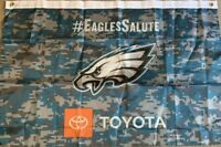One (1) New Philadelphia Eagles Salute To Service Wall Flag - Toyota Man Cave