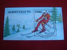 CENTRAL AMERICA :1992 DOWNHILL SKIING  MINISHEET UNMOUNTED USED MINIATURE SHEET