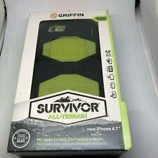 Griffin Black/Citron Survivor All-Terrain Case + Belt Clip for iPhone 6/6s (4.7)
