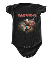 New Iron Maiden Trooper Baby Romper One Piece Shirt 6-24 Months badhabitmerch