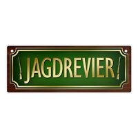 Blechschild Revieraufsicht Jäger Fun Jagd Schild Alu geprägt bedruckt rostfrei