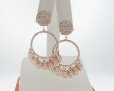 Fine Jewelry Genuine 4.00ctw E-F VS Diamonds 18k Rose Gold Chandelier Earrings