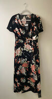 PEARCE FIONDA Silk Wrap Dress Designers At Debenhams Black Oriental Size UK12
