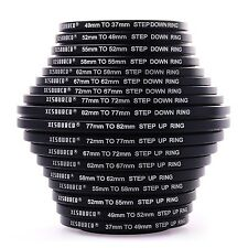 Set 18pcs 37 49 52 55 58 62 67 72 77 82mm Step Up + Step Down Ring Filter Ste...
