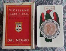 SICILIANE Bollo 1964 Mazzo nuovo sigillato Carte da Gioco regionali DAL NEGRO