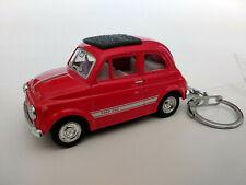 Porte clé Fiat 500 neuf rouge en metal idée cadeau