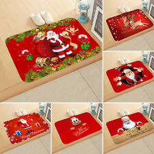 Christmas Door Mat Santa Claus Floor Carpet Outdoor Indoor Rugs Xmas Home Decor