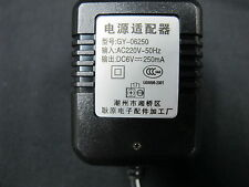AC Adapter Model : GY-06250 DC Output 6VDC 250mA