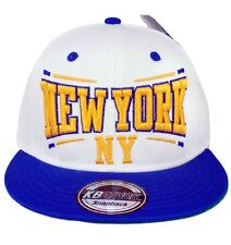 KB Ethos Mens Boys New York NY Snapback Caps Baseball Hip Hop Truckers WhiteBlue