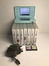 Nintendo DS Lite Mint Green Handheld System With 10 Games