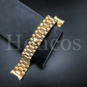 PRESIDENT YELLOW GOLD WATCH BAND BRACELET FOR ROLEX DATEJUST 20MM STAINLESS ST