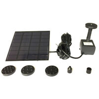 Sola Water Panel Power Fountain Pump Kit Pool Garden Pond Submersible Watering F