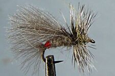 10 x Mouche Sèche Sedge Grizzly H12/14/16/18/20 mosche fliegen fly trout