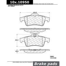 Centric 2-Wheel Set Brake Pad Sets Rear New Ford Focus Escape Saab 103.10950