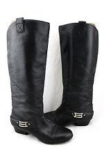 $448 HAYDEN HARNETT Madeleine Black Soft Supple Leather Riding Harness Boots 6