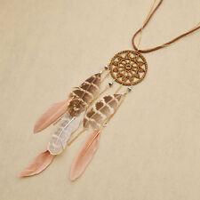 Fashion Bohemian Bola Feather Tassel Pendant Long Rope Necklace Women Jewelry