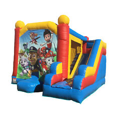 Jumping Castle Blue Combo  Paw Patrol  Jumping Slide Party Event  *HIRE ONLY*