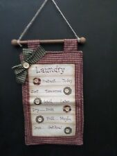 shabby chic country vintage decor verse laundry wall hanger sign clothes