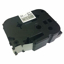 Compatible Label Tape TZM951 TZ-M951 24mm for Brother P-Touch Black on Sliver