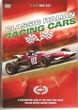 RACING THROUGH TIME CLASSIC ITALIAN CARS 3 DVD BOXSET F1 FERRARI MASERATI ALFA