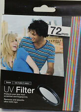 Vivitar UV 72MM Filter Multi Coated For canon 18-200mm 28-135mm 18-135mm 18-270