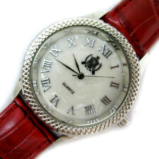 TMC NEW Watch Womens Watches Mother of Pearl Face Dial Roman Numbers Red Leather
